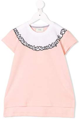 Fendi logo heart trim T-shirt