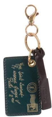 Saint Laurent Y-Mail Leather Keychain