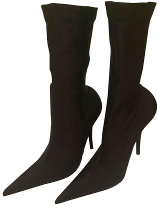 Balenciaga Knife Cloth Ankle Boots