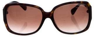 Diane von Furstenberg Logo Gradient Sunglasses