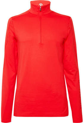 Bogner Harrison Slim-Fit Stretch-Jersey Half-Zip Base Layer