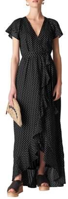 Whistles Spot Maxi Wrap Dress