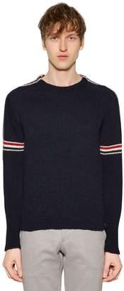 Thom Browne Intarsia Stripes Wool & Mohair Sweater