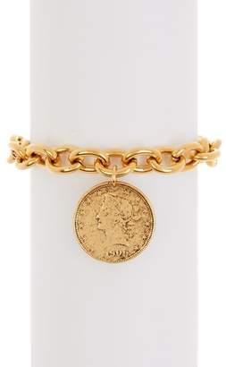 Yochi Legend Coin Charm Bracelet
