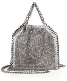 Stella McCartney Falabella Tiny Baby Bella Embellished Faux Leather Tote $1,345 thestylecure.com