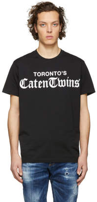 DSQUARED2 Black Torontos Caten Twins T-Shirt