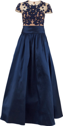 Marchesa Mikado Beaded Ball Gown