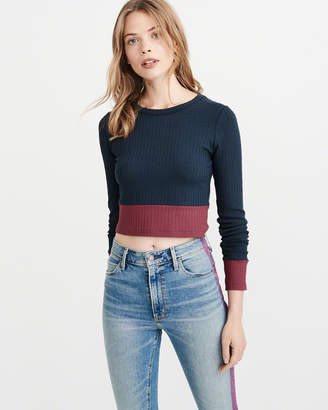 Abercrombie & Fitch Long Sleeve Ribbed Tee