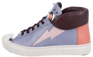 Fendi Monster High-Top Sneakers