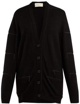 Christopher Kane Zip Trimmed Cashmere Cardigan - Womens - Black