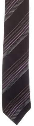 Prada Striped Woven Tie