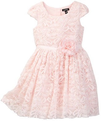 Zunie Short Sleeve Allover Lace Special Occasion Dress (Toddler & Little Girls) $60 thestylecure.com
