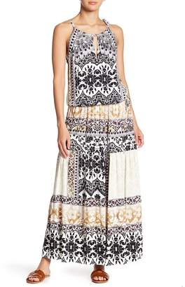 Hale Bob Patterned Keyhole Maxi Dress
