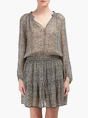 Velvet by Graham & Spencer Aubrey Leopard Print Dress, Neutral