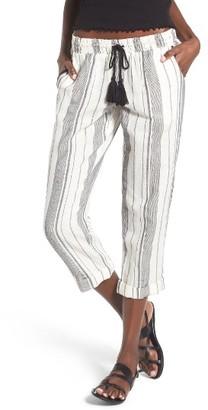 Women's Rip Curl Stripe Cropped Pants $54 thestylecure.com