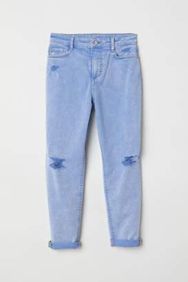 H&M Twill Pants Trashed - Blue