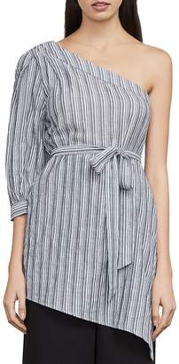 BCBGMAXAZRIA Jolee Striped One-Shoulder Top