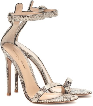 Gianvito Rossi Python leather 110 sandals