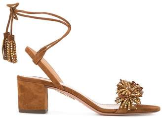Aquazzura crystal anke strap sandals