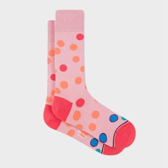 Men's Pink Irregular Polka Dot Socks $30 thestylecure.com
