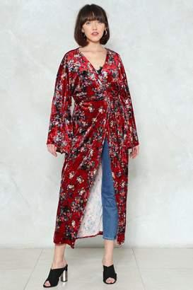Nasty Gal For the Long Haul Velvet Kimono
