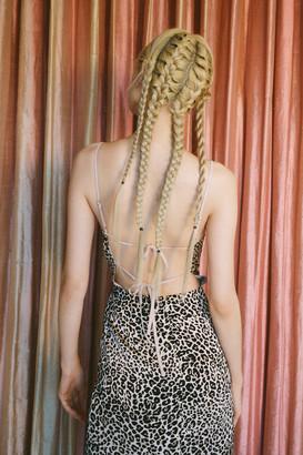 Urban Outfitters Leopard Print Tie-Back Mini Dress
