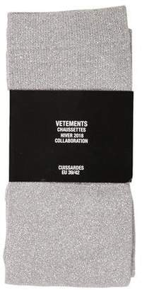 Vetements x Reebok 2018 Lurex Thigh-High Socks w/ Tags