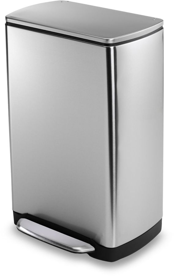 Simplehuman 38-Liter Rectangular Fingerprint Proof Brushed Stainless Steel Step Trash Can