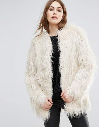 French Connection Marissa Shaggy Faux Fur Coat