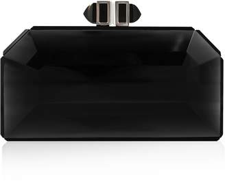 Judith Leiber Faceted Black Box Clutch