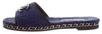 Chanel Chain-Link CC Slide Sandals