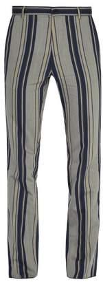 BEIGE Arjé Arje - The Nico Striped Trousers - Mens Multi
