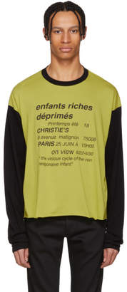 Enfants Riches Deprimes Yellow and Black Vicious Cycle T-Shirt