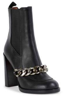 Givenchy Chain Line Leather Chelsea Boots