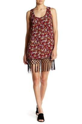 Angie Fringe Floral Tank Dress