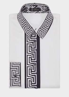 Versace Greek Border Silk Shirt