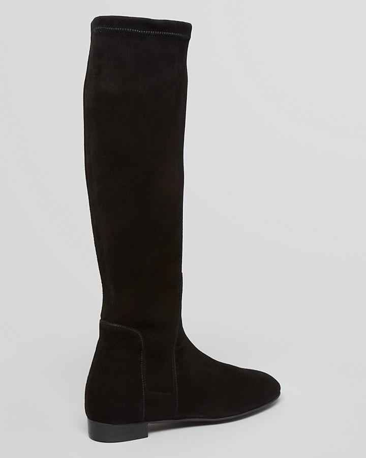 Delman Flat Tall Boots - Meg Stretch