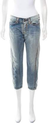 Ermanno Scervino Mid-Rise Cropped Jeans