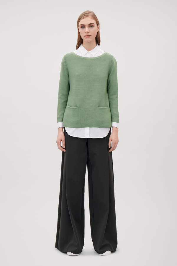 A-LINE COTTON KNITTED TOP
