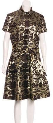 Naeem Khan Brocade Wool & Silk-Blend Dress