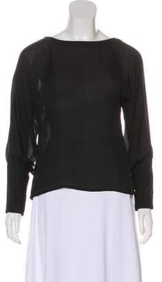 HANEY Silk Long Sleeve Top
