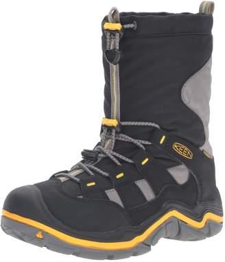 Keen Kid's Winterport II WP Mid Calf Boots, Midnight Navy/Jasmine Green