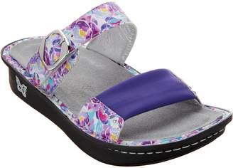 Alegria Leather Slide Sandals w/ Strap Details - Keara