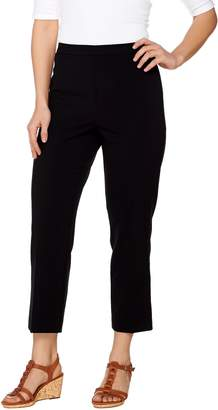 Susan Graver Chelsea Stretch Comfort Waist Side Zip Crop Pants
