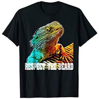 Dragon Optical Respect The Beard T shirt Funny Bearded T-shirt