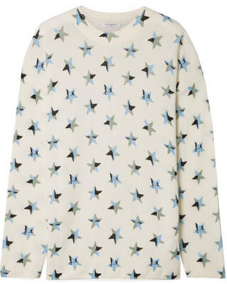 Equipment Bryce Oversized Printed Cashmere Sweater - White