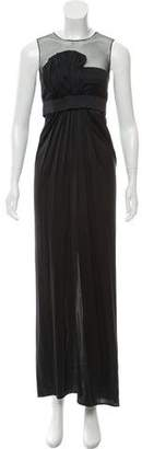 Stella McCartney Mesh-Accented Draped Gown