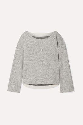 Skin - Tatum Striped Pima Cotton And Modal-blend Pajama Top - Gray