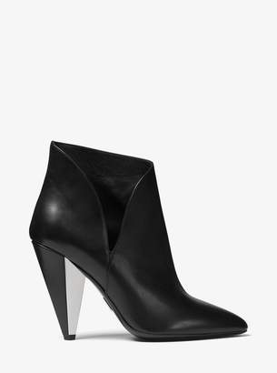 Michael Kors Angelina Calf Leather Ankle Boot