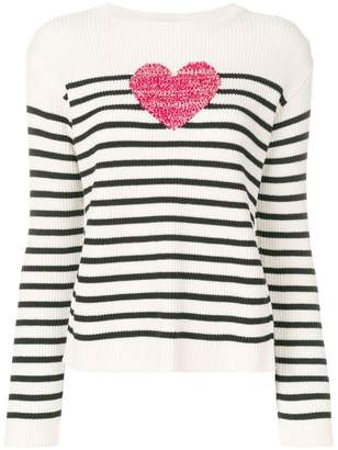 RED Valentino knit heart striped sweater
